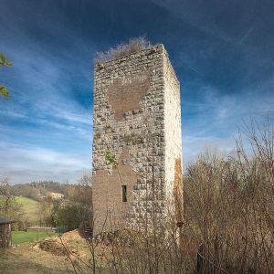 Ruins of a Castle Keep. (www.commons.wikimedia.org/wiki/File:Bergfried_Burgruine_Niederviehhausen.jpg)
