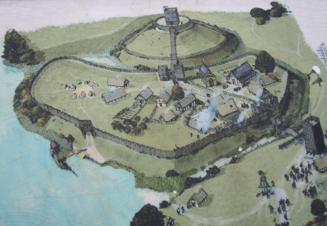 Sketch of a Motte & Bailey Castle. (By Duncan Grey, found on Wikicommons)