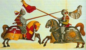 Lances and little tournament shields