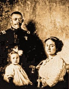 George Prioleau and his family (His wife and children travelled with him during his military service).