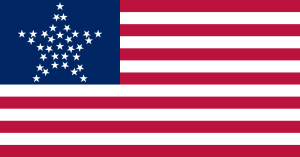 "United States of America 33 Star Flag, ""The Great Star Flag,"" 1861"