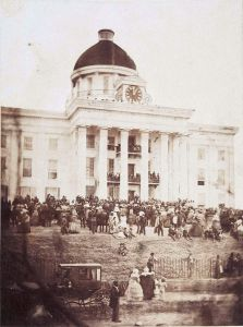 Davis's Inaugural at the State Capital in Alabama