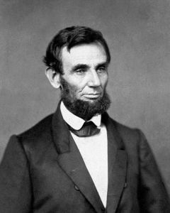 Abraham Lincoln in 1861 (Public Domain in the USA)