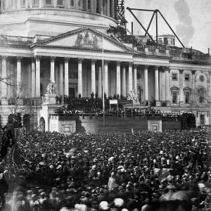 Lincoln's Inauguration at the Capitol on March 4, 1861