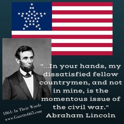 Lincoln Quote 1861