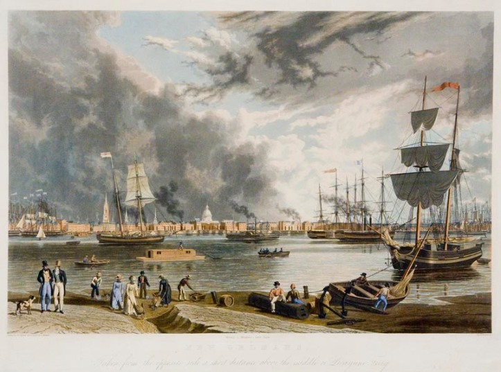 An antebellum image of New Orleans; General Scott's plan would crush the Southern export/import economy and divide the Confederacy.