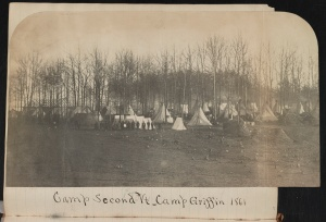 A Union Camp in 1861 (this one is probably more comfortable than the one Barlow describes)