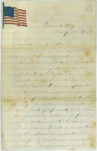 Original Letter by Captain Squire (Special Collection at University of Washington)