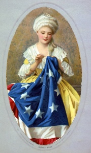 Unauthentic portrait of Betsy Ross