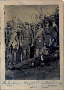 Members of the 2nd Rhode Island Regiment, June 1861. (More photographs are available here: http://www.provlib.org/blog/2nd-regiment-company-f-rhode-island-volunteers)
