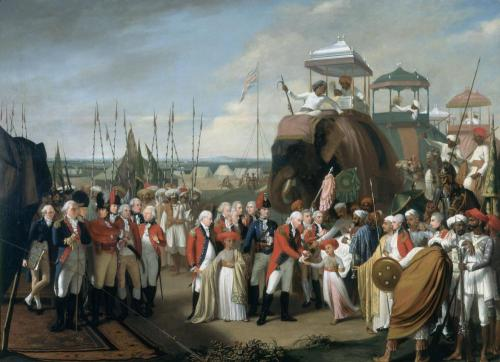 Ironically, Cornwallis accepted the surrender and hostages from the rebellious Indian Sultan.