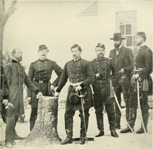 George McClellan and Staff Officers, 1861