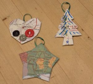 Christmas Map Ornaments