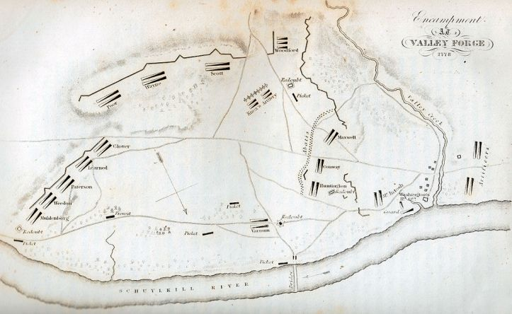 Map of the Valley Forge Encampment
