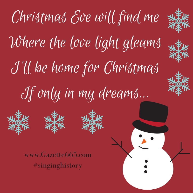 Christmas eve will find me where the love light gleams