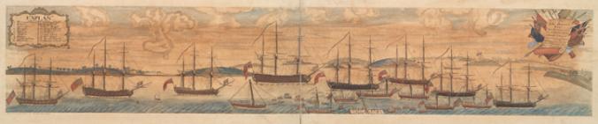 Boston Ships and Harbor (1768)