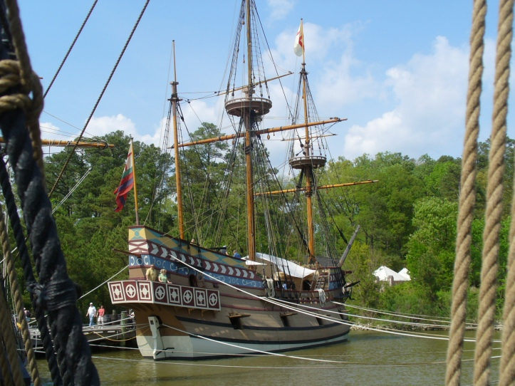Replica of one of the ships that brought settlers to Jamestown