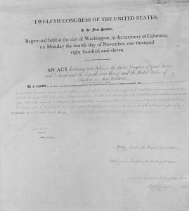 United States Declaration of War (1812)