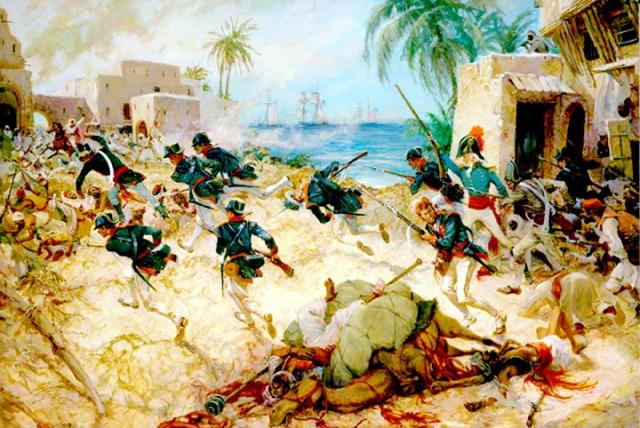 U.S. Marines at the Battle of Derna, Tripoli