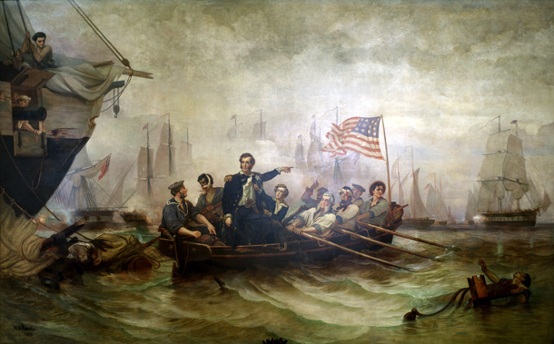 Captain Perry at the Battle of Lake Erie