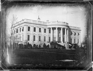 The White House, photographed in 1846 - just a few years before Mrs. Fillmore arrived